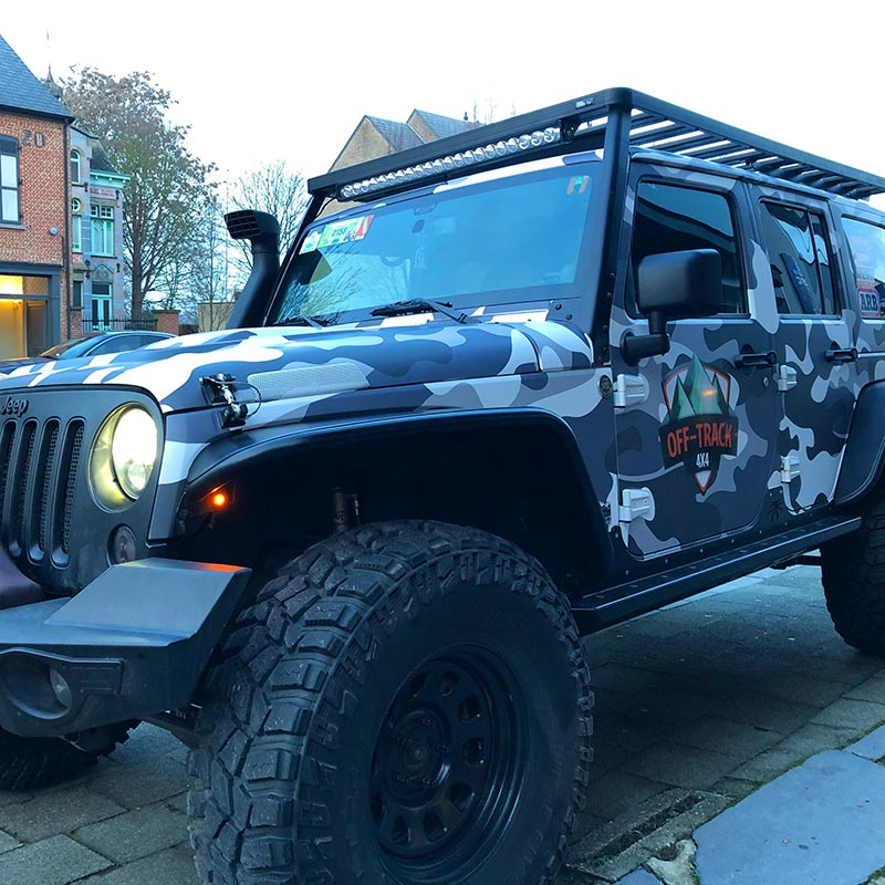 Wrapaholic carwrapping print design wrap jeep wrangler