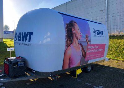 Autoreclame Autobelettering Aanhangwagen Belettering BWT