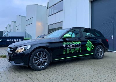 Autoreclame Autobelettering Auto Belettering Mercedes C Klasse Green House Solutions