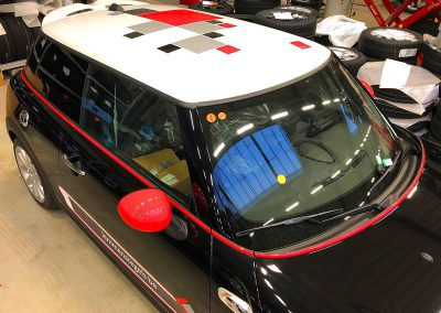 Autoreclame Autobelettering Auto Belettering Mini Cooper S Lemmens Tegels