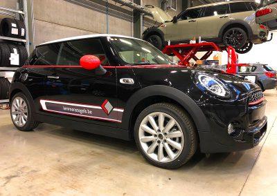 Autoreclame Autobelettering Auto Belettering Mini Cooper S Lemmens Tegels F2