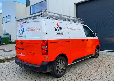 Autoreclame Autobelettering Bestelwagen Belettering Citroën Jumpy BVB-Service