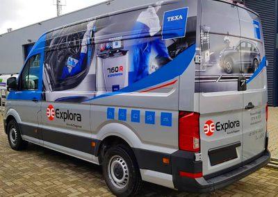 Autoreclame Autobelettering Bestelwagen Belettering MAN Explora