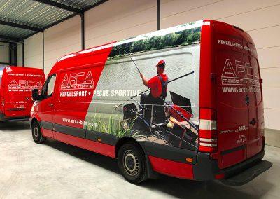 Autoreclame Autobelettering Bestelwagen Belettering Mercedes Sprinter ARCA