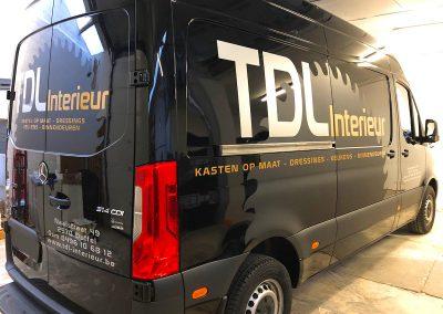 Autoreclame Autobelettering Bestelwagen Belettering Mercedes Sprinter TDL Interieur