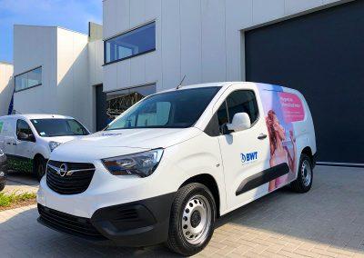 Autoreclame Autobelettering Bestelwagen Belettering Opel Combo BWT
