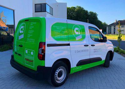 Autoreclame Autobelettering Bestelwagen Belettering Peugeot Partner C-Dot