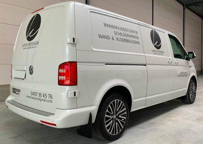 Autoreclame Autobelettering Bestelwagen Belettering VW Crafter Koen Bossier