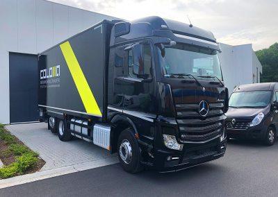 Autoreclame Autobelettering Vrachtwagen Belettering Drukkerij Coloma