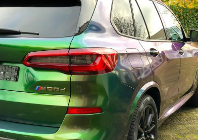Carwrapping Color Change BMW X5 M50d