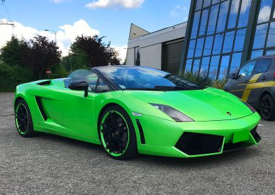 Carwrapping Color Change Lamborghini Roadster
