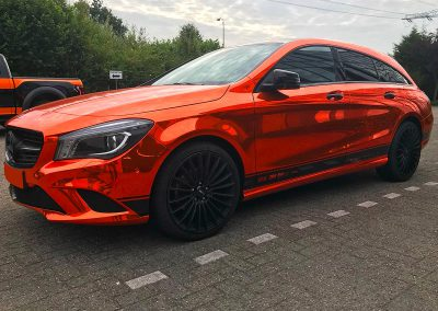 Carwrapping Color Change Mercedes Benz CLA Break Chrome
