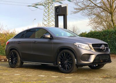 Carwrapping Color Change Mercedes Benz GLE Coupé AMG F2