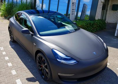 Carwrapping Color Change Tesla Model 3 F2