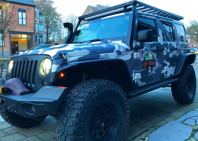 Carwrapping Print Wrap Camouflage Jeep Wrangler