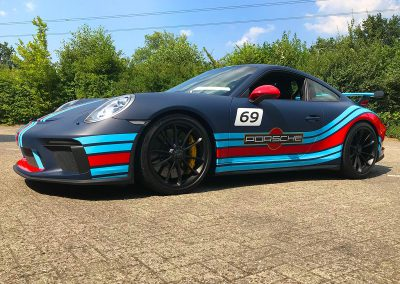Carwrapping Special Wrap Martini Striping Porsche GT3