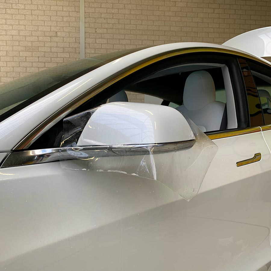 Paint Protection Xpel PPF Tesla Model 3 Spiegel